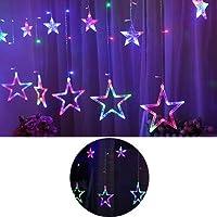 Guirlande Lumineuses 12 Etoiles Led Ip44 Étanche Étoiles Led Décoration Intérieur Pour Rideau De Fenêtre Jardin Fête Soirée Cérémonie