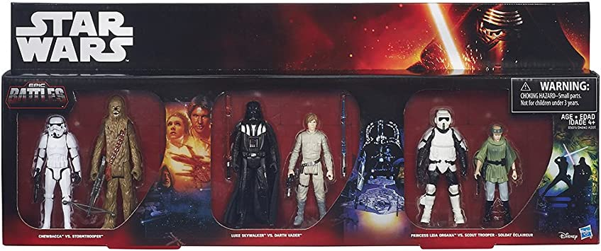 Star Wars figuras Set 6 Pack Saga Battle Pack (B5010) Episodio 1 ...