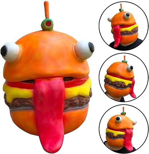 Watropi Cosplay Durr máscara de Hamburguesa Suave y Transpirable ...