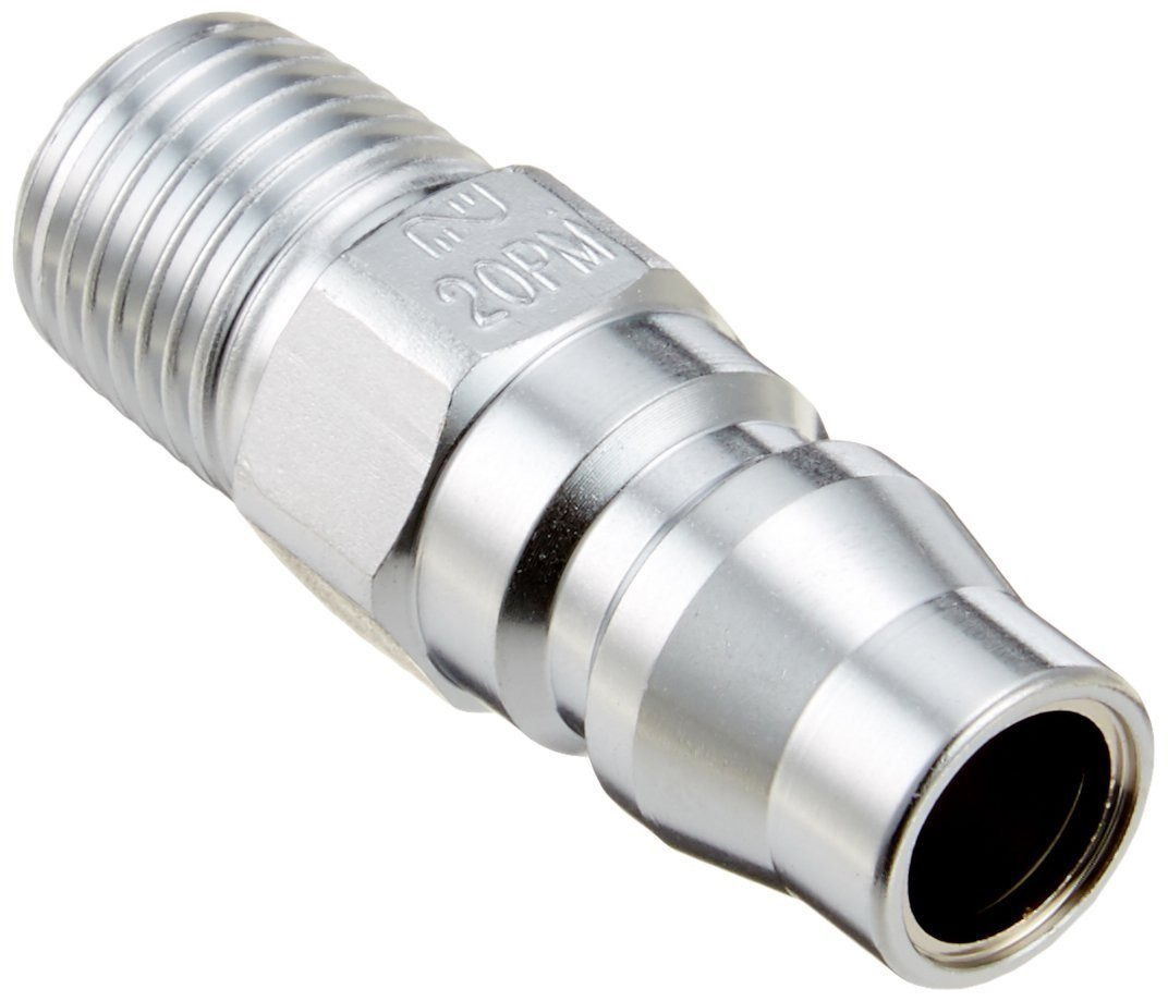 218 PSI Nitto Kohki Hi Cupla 20SM-NPT Quick Connect Pneumatic Coupler Socket NPT Thread Male 1//4 Size Steel