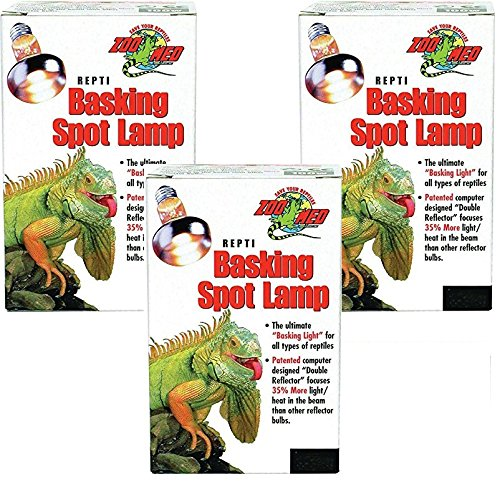 (3 Pack) Zoo Med Repti Basking Spot Lamp 50 watt (Watt Basking Lamp)