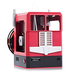 Tresbro Creality Cr-100 Mini 3D Printer with Fully Assembled and Intelligent Leveling, Best for Kids Children Beginner Students STEM Educational Toys - Red …