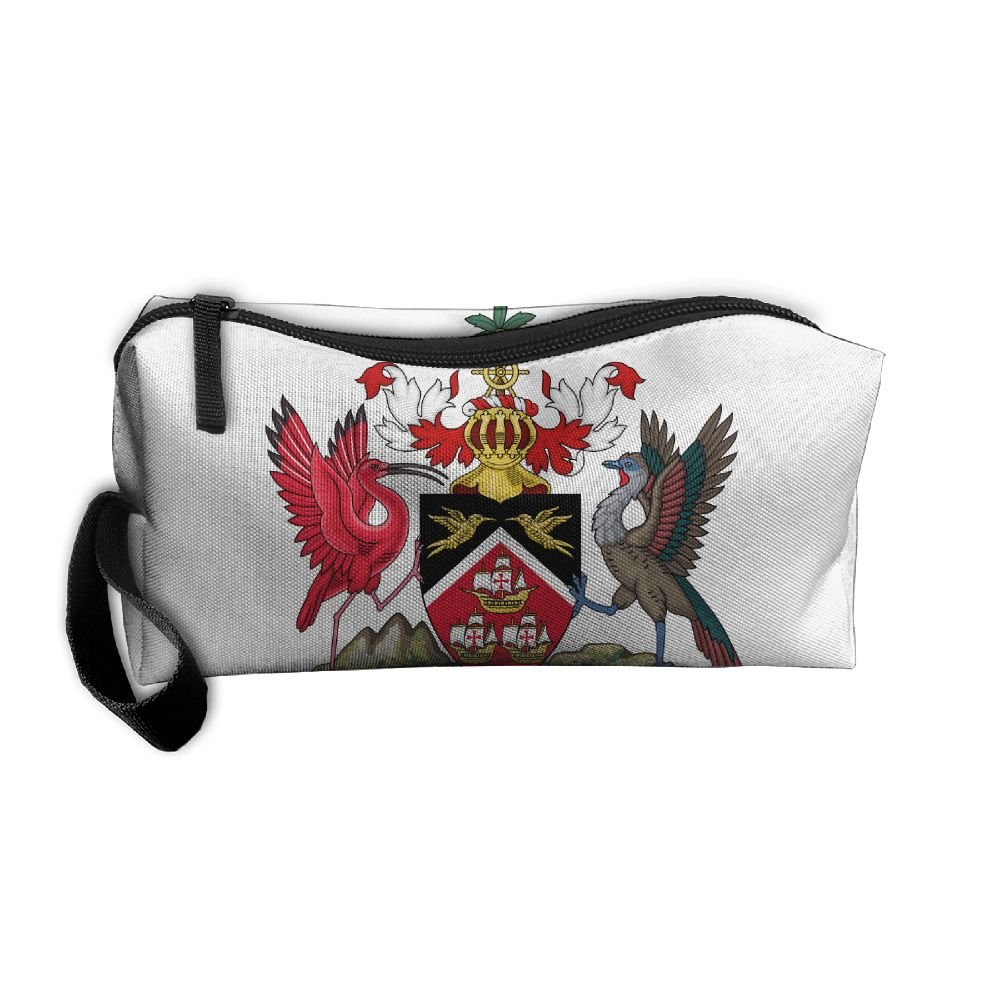 HSs4AD Coat Of Arms Of Trinidad And Tobago Cosmetic Bag Travel Toiletry Bag Portable Makeup Pouch Hanging Organizer Bag