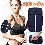 Sport Running Armband,Lovphone Outdoor Exercise Gym Case with Double Pocket & Sweatproof & Waterproof Multifunctional for iPhone 7/6/6s/5/SE/iPod, Galaxy S5/S4/S3 Or More