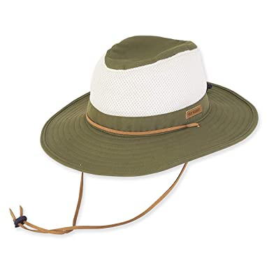 Amazon.com  Guy Harvey Cotton Safari Hat w Mesh Crown Olive  Clothing 3fcbd399773