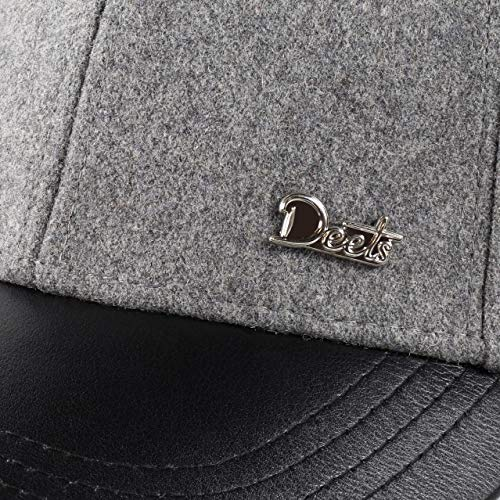 Deets Fashion Leather   Cashmere Baseball Cap Unisex for Men and Women  Comfortable Luxury Hat bc449e218656