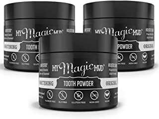 product image for My Magic Mud - Whitening Tooth Powder, Polishing, Brightening, Charcoal, Original, 1.06 oz. (3-Pack)