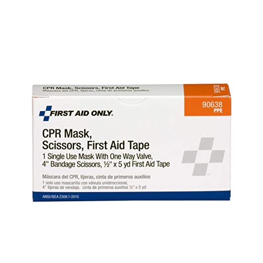 Amazon.com: Máscara de CPR, tijeras, rollo de cinta, 1 ...