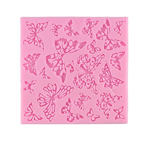 Molde de pastel de silicona líquida, flor de mariposa Molde de silicona líquida Herramienta de