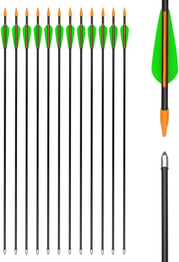 Archery Fiberglass Arrows for Kids and Adult Targeting Practise Arrow Recurvebow Shooting