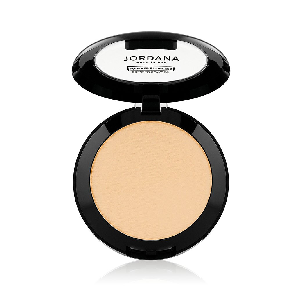 (3 Pack) JORDANA Forever Flawless Face Powder - Creamy Beige