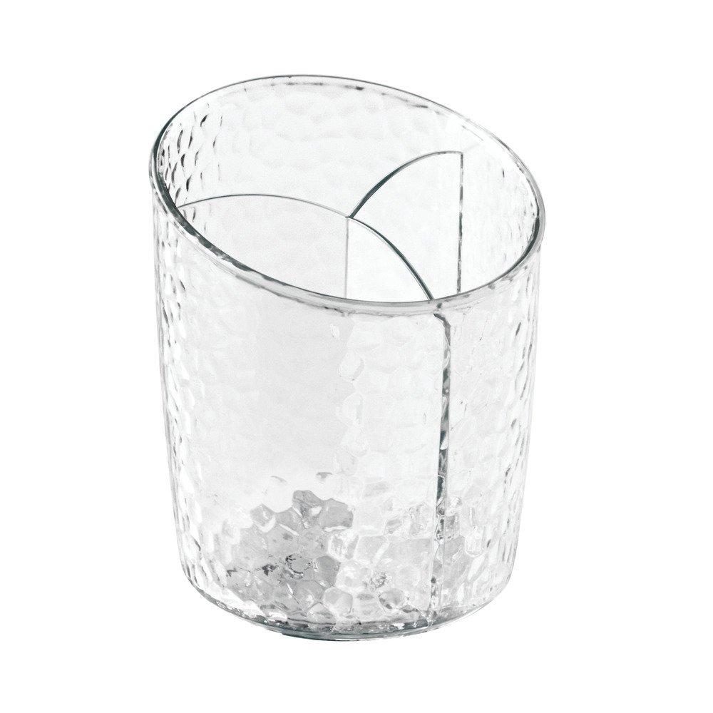 InterDesign Rain Organizzatore Cosmetici per Armadi, Plastica, Trasparente, 10.16x10.16x20.96 cm 55250