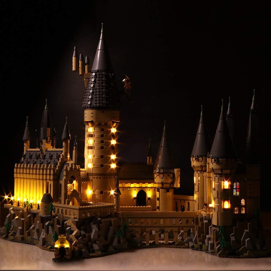 Searchyou Luz LED Light Set Compatible con Lego 71043 - Harry Potter TM-Castillo de Hogwarts, maqueta de Juguete para Construir la Escuela de magía (No Incluye el Modelo de Lego)