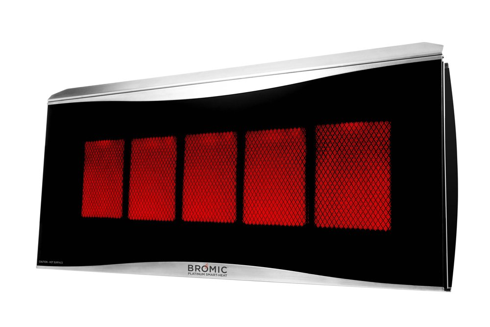 Bromic Heating BH0110003-1 Smart-Heat Platinum 500 Radiant Infrared Patio Heater, Natural Gas, 39800 BTU by Bromic Heating