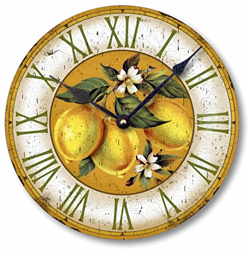Yellow Lemons Vintage Style Wall Clock