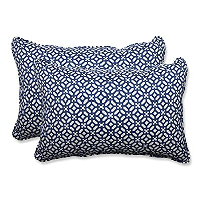 Pillow Perfect Outdoor/Indoor in The Frame Over-Sized Rectangular Throw Pillow (Set of 2), Sapphire - Includes two (2) outdoor pillows, resists weather and fading in sunlight; Suitable for indoor and outdoor use Plush Fill - 100-percent polyester fiber filling Edges of outdoor pillows are trimmed with matching fabric and cord to sit perfectly on your outdoor patio furniture - patio, outdoor-throw-pillows, outdoor-decor - 61bUBIndd2L. SS400  -