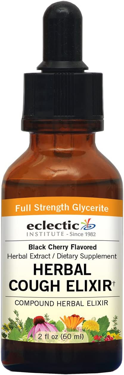 Eclectic Herbal Cough Elixir G, Orange, 2 Fluid Ounce