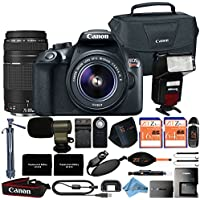Canon EOS Rebel T6 18MP Digital SLR Camera Retail Packaging 16 Piece Videographer Bundle (18-55mm & 75-300mm Premium Bundle)