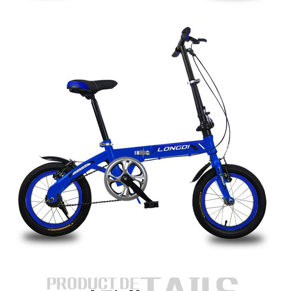 XQ 折り畳み自転車無可変速度非常に軽い男性と女性大人の子供の折りたたみ車14分の16インチの自転車 子ども用自転車 ( 色 : 青 , サイズ さいず : 14-inch ) B07CJ9HVNZ 14-inch|青 青 14-inch