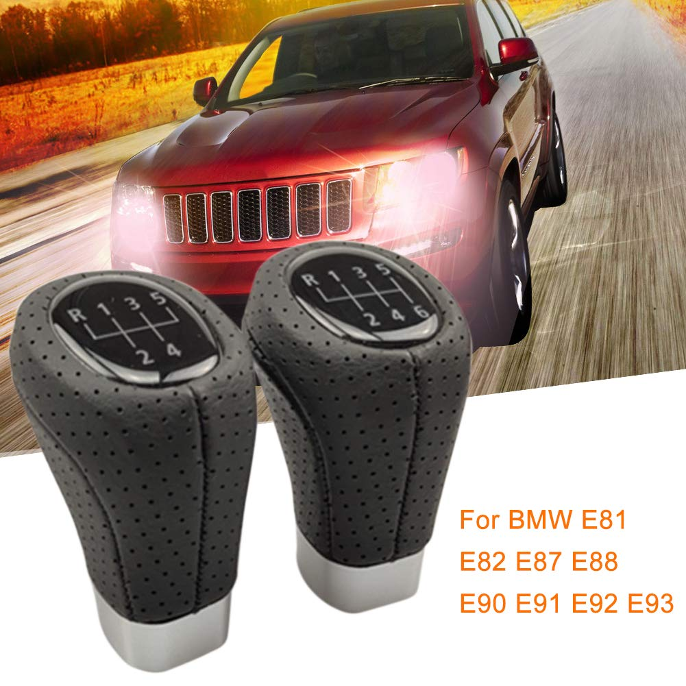 Eruditter Schaltknauf 5 6 Speed schaltknauf universal Manuell Schaltknauf Gear Shift knob F/ür BMW E81 E82 E87 E88 E90 E91 E92 E93