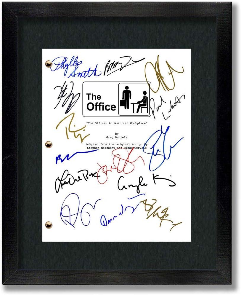 The Office TV Cast Autographed Signed Reprint 8.5x11 Script Framed 11x14 - Dunder Mifflin, Michael Scott, Jim Halpert, Pam Beesly, Dwight Shrute, Kelly Kapoor