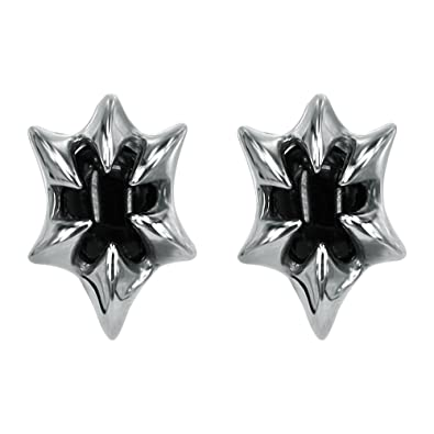 aa03f7011 Image Unavailable. Image not available for. Color: Tribe Dragon Claw Black  Stone Studs Earrings Gothic Stainless Steel Earring for Man Women Teens