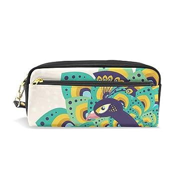 Amazon.com : hengpai Beautiful Peacock Pencil case Cosmetic ...
