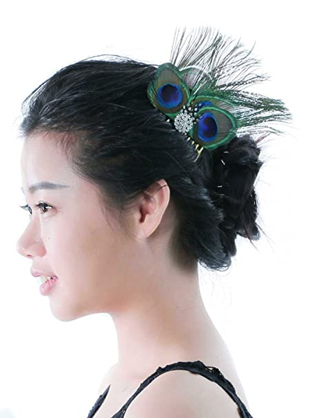 Buy Aukmla Peacock Feather Fascinator Headband 63baca1e3f9