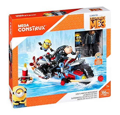 Mega Construx Despicable Me 3 Gru's Water Motorcycle Buildin...