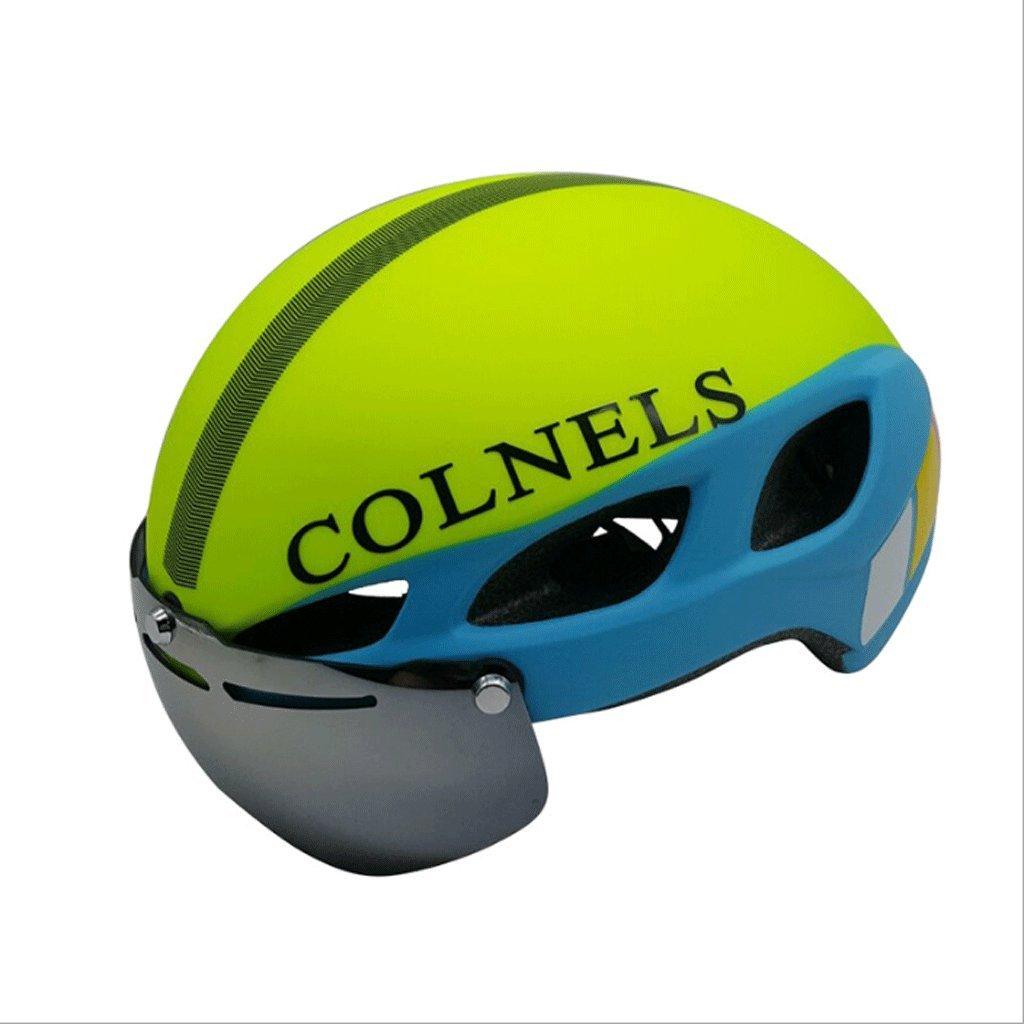 DGF サイクリングヘルメットライディングスポーツヘルメットとゴーグル磁気レンズマウンテンバイクハイウェイプロフェッショナルヘルメットM/L (色 : D, サイズ さいず : M) B07FKLVJZJ Medium|D D Medium