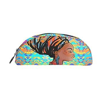8826e34334f4 zzkko Mosaik Afrikanische Frau Reißverschluss Pen Bleistift Tasche ...