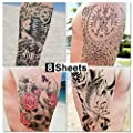8 Sheets Temporary Tattoos For Guys For Men - Tribal Tattoo, Koi Fish Stickers For Arms Shoulders Chest & Back, Fake Skull Tattoo - Owl Tattoos Body Art Tattoo Waterproof Large Transfers (Mercury) by Sovereign-Gear