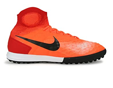 cd144875d Nike Men s MagistaX Proximo II Turf Total Crimson Black University Red Soccer  Shoes -