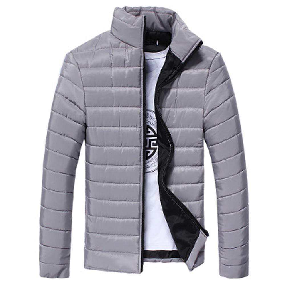 BaZhaHei Uomo Top,2018 New Cappotto da Uomo Inverno, Piumino Invernale Autunno Giubbotto Giacchetta Giacca Manica Lunga Felpa Uomo Elegante Caldo Invernale Cappotto Outwear Cappotti
