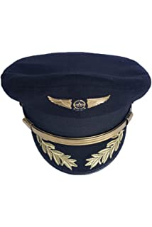 463a3978d27 CHECKIN Custom Upscale Military Pilot Cap Airline Captain Hat Uniform Party Hat  Navy Officer Sailor Cap