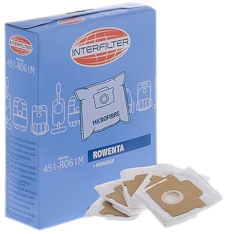 Caja de 5 bolsas de microfibra - aspirador - Moulinex ...