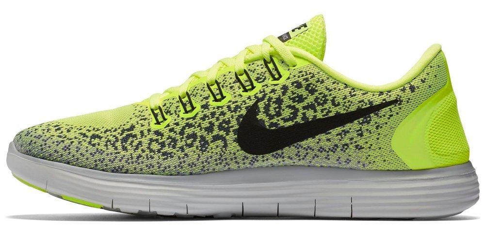 Nike Free RN Distance, Zapatillas de Running para Hombre 45.5 EU|Amarillo (Volt / Black-dark Grey-wolf Grey)