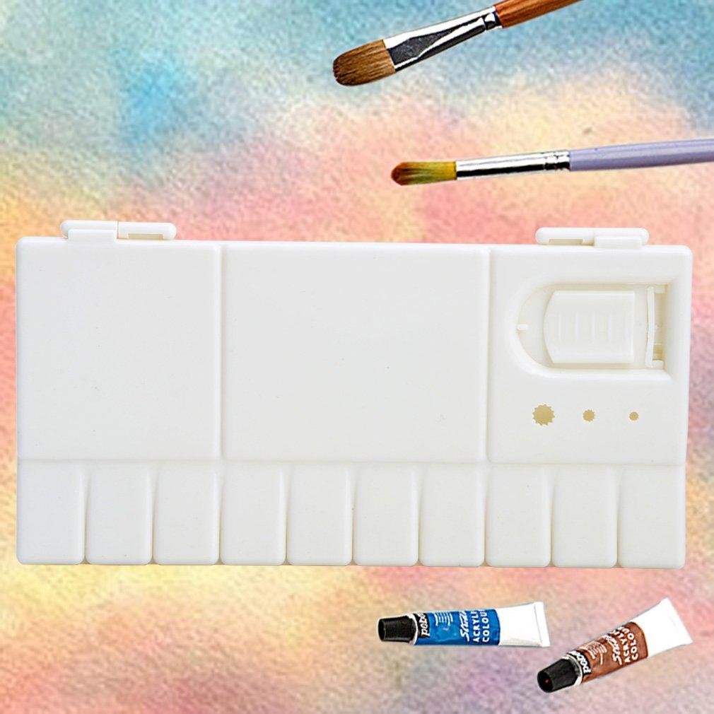 New 25 Grids Large Art Paint Tray Artist Oil Watercolor Plastic Palette White