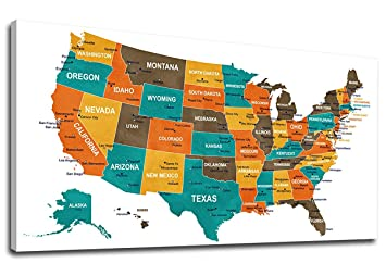 Wall Art Map of US Canvas Art Large United States of American Map Picture Image Of The United States Map Blurred Gray on gray map of italy, gray map of scotland, gray map of poland, gray map of iran, gray map of france, gray map of cuba, gray map of brazil, gray map of korea, gray map of india, gray map of mexico, gray map of america, gray map of georgia, gray map of germany, gray map of asia,