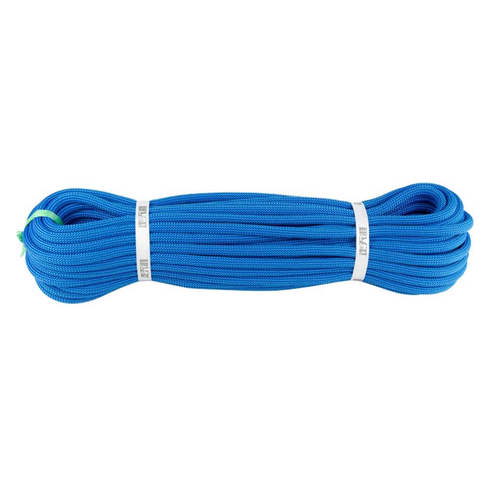 10.5ミリメートルロッククライミングロープ、火災エスケープ安全救助ラペリングロープキャンプケイビング保護電源ロープ耐摩耗性実用ロープ,Blue,80m 80m Blue B07R5Z9NTF