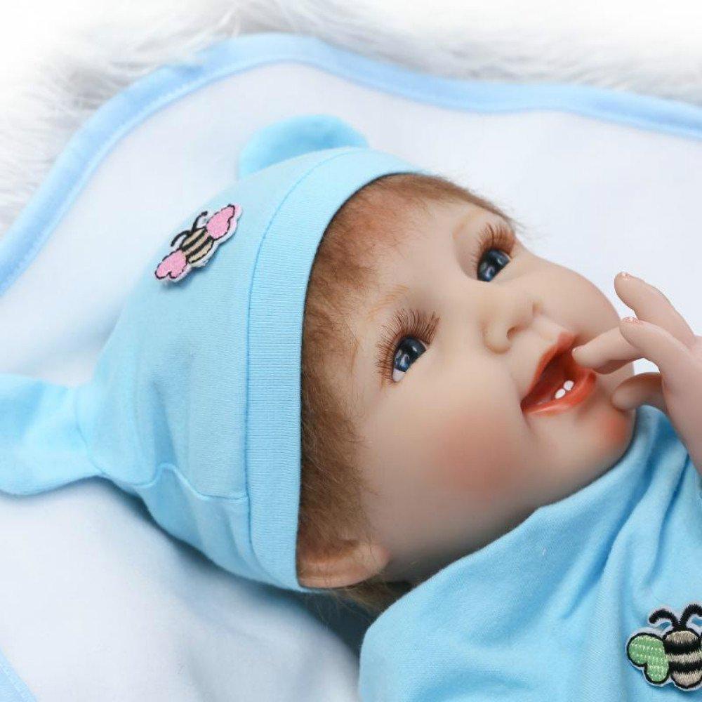 Amazon.com: Silicone Reborn Newborn Baby Dolls Twins Realistic Soft ...