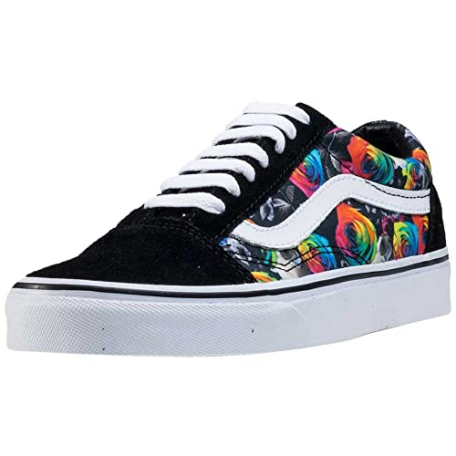 2fbd9db081 Vans Unisex Old Skool (Rainbow Floral) Black True White Skate Shoe 6 Men US    7.5 Women US  Amazon.ca  Shoes   Handbags