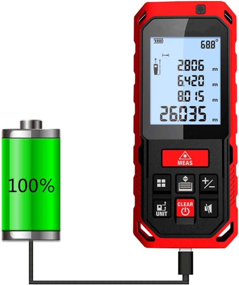 Buscador de rango de luz verde, USB de carga directa Infrarrojo de alta precisión, instrumento de medición para exteriores Regla electrónica de mano Regla láser Nivel electrónico,Ranging500cm