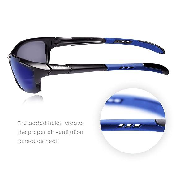 Amazon.com: Hulislem Blade Sport anteojos de sol polarizados ...