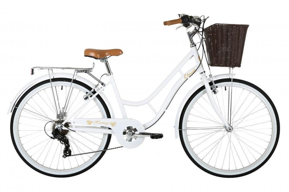 "Classic Heritage Ladies 26"" Wheel 7 Speed 16""£ Frame Traditional Bike Bicycle White"