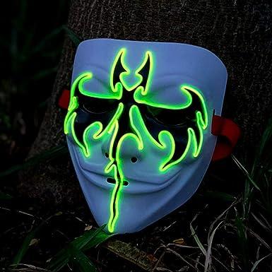 Dzz Kreative El Licht Maske Führte Sprachsteuerung V Wort Vendetta