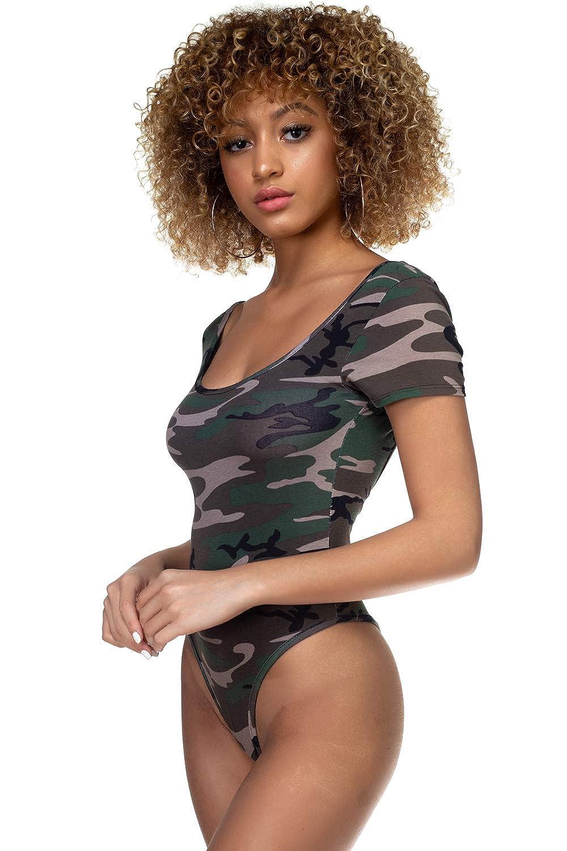 83b6e169c31d Cemi Ceri Women's Cotton Short Sleeve Bodysuit, Large, Camouflage:  Amazon.ca: Clothing & Accessories