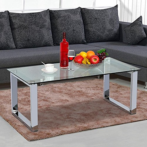 World Pride Living Room Modern Glass Top Coffee Tables