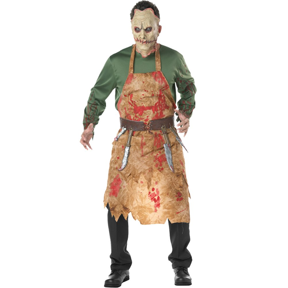 Amazon.com: H & ZY Hombres de Halloween Sangriento carnicero ...
