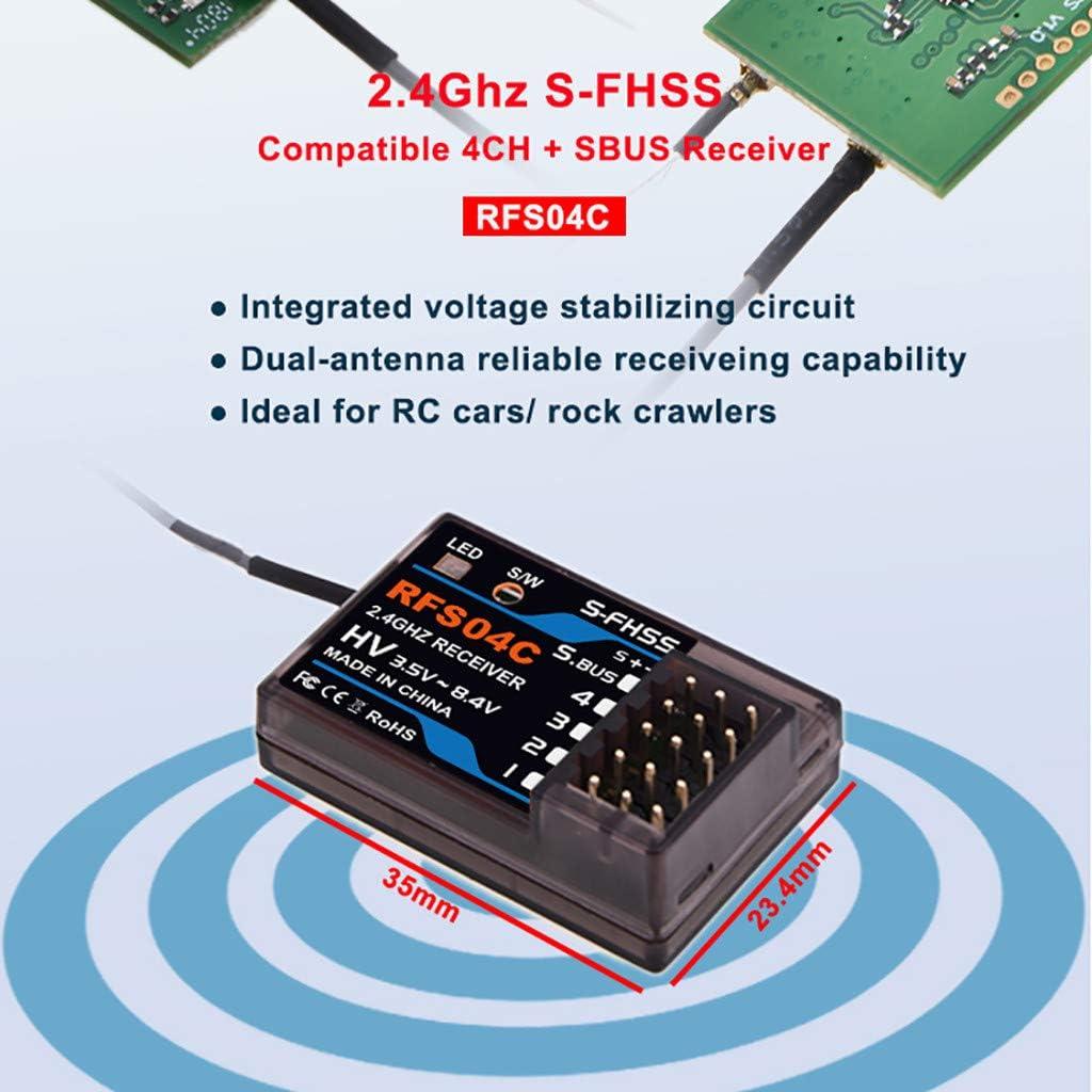 Ktyssp AGFRC RFS04C 2.4G 4CH+SBUS Compatible S-FHSS Receiver for RC Car